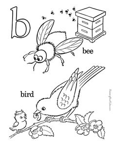 Love These Classic Style Alphabet Coloring Pages Farm ABC Page