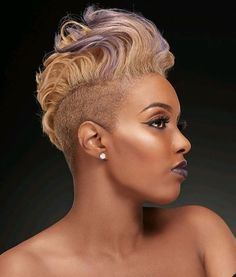 Superb Female Mohawk Hairstyles for Black Women Layered Pixie Cut, Pixie Cuts, Long Layered, Female Mohawk, Curly Hair Styles, Natural Hair Styles, Natural Short Hairstyles For Black Women Tapered Twa, Natural Mohawk Hairstyles, Short Black Hairstyles