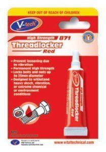 V-Tech Enduit de filetage Très fort Rouge 6ml