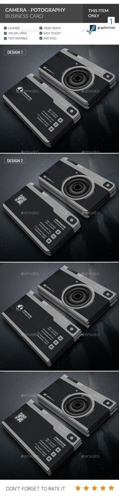 Camera - Photography Business Card