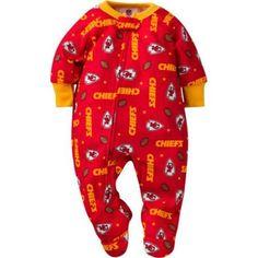 NFL Kansas City Chiefs Baby Boys Team Blanket Sleeper, Infant Boy's, Size: 3 Years, Red