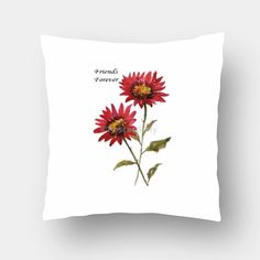 Friends Forever Cushion Cover #cushion #pillow #cushioncover #friendshipday #gift #floralcushion