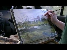 Painting outdoors in the car - YouTube