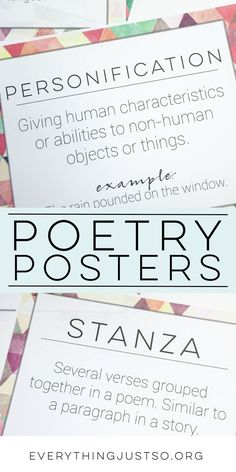 Poetry and Figurative Language Posters FREE Teaching Poetry, Teaching Reading, Learning, Poetry Activities, Reading Activities, Poetry Lessons, Math Lessons, Elementary Teacher, Upper Elementary