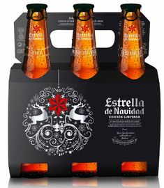 Estrella Galicia launches limited edition beer for the Christmas season #packaging
