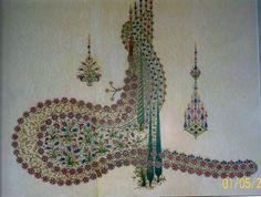 TUĞRA ŞEKLİNDE 99LU TESBİH-FATMA ZEHRA AKTAŞ-2005- Islamic Architecture, Islamic Calligraphy, Colorful Furniture, Arabesque, Islamic Art, Bohemian Rug, Paisley, Persian, Inspiration