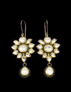Polki diamond earrings
