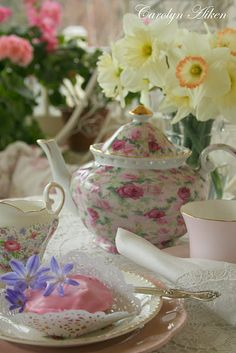 Please have tea with me...when I was four my grandmother bought me a tea set.....she was planning on taking all of her grandchildren to dinner...I was the only one who made it...she died...I was only one who had a chance.