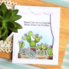 Laina Lamb Design Sweet Succulents stamp set and Die-namics - Margarita Pochekutova #mftstamps