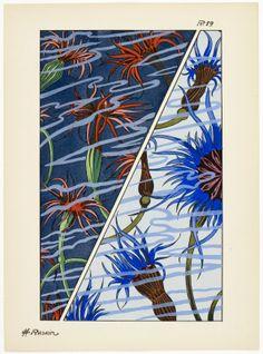 Art deco patterns from Oceanic Fantasies, by E H Raskin, Pattern Drafting, Textile Patterns, Beautiful Patterns, Art Deco, Ocean, Tarot, Artwork, Painting, Inspiration