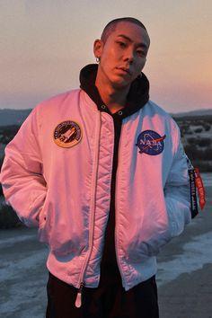 Alpha Industries Fall/Winter 2017 Channels Urban Heroism Vibes: Modeled by South Korean rapper Loco. K Pop, Kpop Rappers, New Boyz, Kwon Hyuk, Kdrama Actors, Korean Artist, Asian Men, Korean Actors, Bad Boys