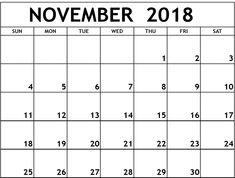 47 Best November 2018 Calendar Images On Pinterest Calendar