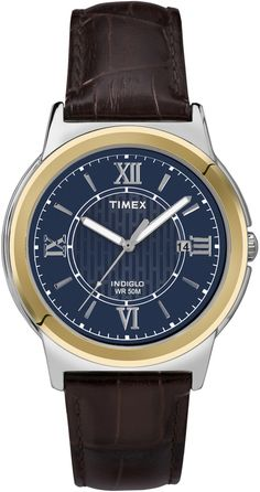 timex men s two tone expansion band watch t26481 watches band timex men s leather strap dress watch t2p521 brown leather band blue dial