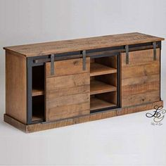 Reclaimed Wood Sliding Barn Door Console For my counter it's a good idea! Related Post 17 industrielle Kinder Zimmer Ideen Img: Digital Camera Concept by Abidur Chowdhury 75 Rustic Industrial Bathroom Furniture Ideas Industrial Furniture, Pallet Furniture, Furniture Projects, Rustic Furniture, Home Projects, Furniture Design, Antique Furniture, Modern Furniture, Console Furniture