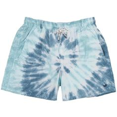 Austin Tie-Dye Swim Trunk in Slate and Mint by Southern Marsh ($59) ❤ liked on Polyvore featuring swimwear, tie dye swim trunks, tie-dye swimwear, mint swim wear, tie dye swimwear and mint swimwear