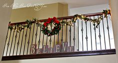 Banister decor.