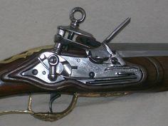 Reproducció actual de fusell de pany miquelet del segle XIX a l'època Colonial Espanyola a la Argentina.