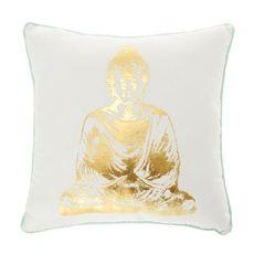 Mint & Gold Buddha Pillow
