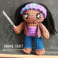 Michonne from The Walking Dead inspired crochet doll www.facebook.com/OhanaCraft