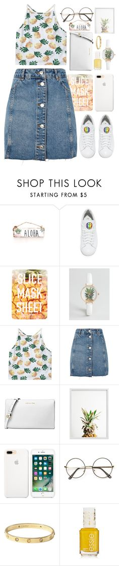 """""""Pineapples all day everyday"""" by see-starxs-above ❤ liked on Polyvore featuring Joshua's, Topshop, ASOS, Michael Kors and Cartier"""