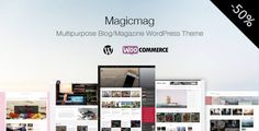MagicMag - Multipurpose Blog/Magazine WordPress Theme . MagicMag has features such as Widget Ready: Yes, Compatible Browsers: Firefox, Safari, Opera, Chrome, Edge, Compatible With: WooCommerce 2.6.x, Bootstrap 3.x, Software Version: WordPress 4.7.x, WordPress 4.6.1, WordPress 4.6, WordPress 4.5.x, WordPress 4.5.2, WordPress 4.5.1, WordPress 4.5, Columns: 2