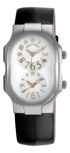 Philip Stein Women's 1FFSMOPLB Patent Strap Watch Philip Stein. Save 28 Off!. $427.99. •2 Swiss-Quartz movements•Stainless steel case•Black patent strap, Mother-Of-Pearl dial, arabic numerals•2 time zone displays•Water-resistant to 99 feet (30 M)