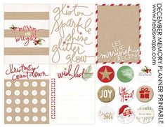 Freebie: December Memory Planner Printable by Heidi Swapp