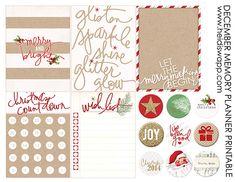 Blog « Heidi Swapp. Free printable for Dec.