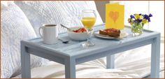 Surprise mom with breakfast in bed on a tray fit for a queen. Its simple to construct and fun to customize the finish. She will love you for it. Beauit-Tone Paint - DIY