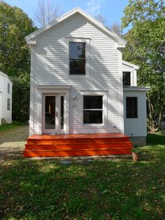 From a Design*Sponge Sneak Peek with Annie Coggan and Caleb Crawford, Belfast, Maine – I love the colour of the porch
