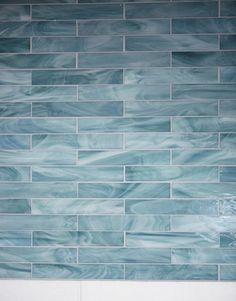 The Repose tiles are laid in a running bond, adding a little movement.   - HouseBeautiful.com