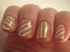 JLo #Oscars inspired mani from glittershewrote.com