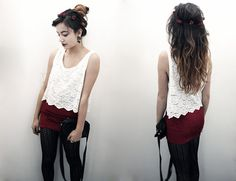 Red Wine & Roses (by Gladys D) http://lookbook.nu/look/2732033-Red-Wine-Roses