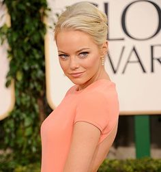 I love Emma Stone and all her movies, but this peach dress is my favorite look on her.