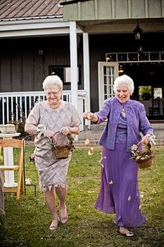 Go With An Unconventional Wedding Party     What's a great way to get people talking about your ceremony and how adorable it was? Ask your grandmothers to be your flower girls!     Photo via  New York Times .