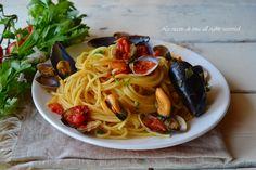 spaghetti cozze e vongole,spaghetti cozze,primi veloci,primi facili,primi di pesce,primi estivi,le ricette di tina