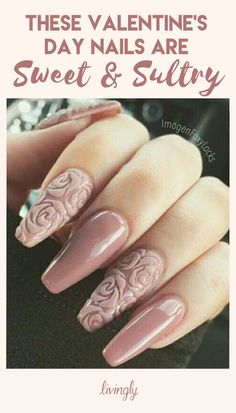 These Valentine's Day nails are sweet and sultry.