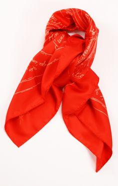 Hermes orange scarf