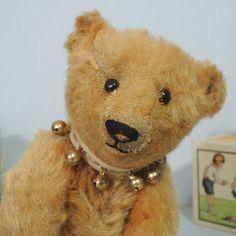 """Gorgeous 10"""" BLANK button apricot STEIFF Teddy Bear 1905! #Steiff"""