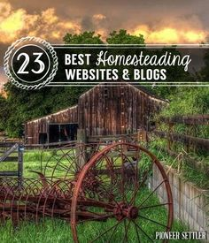 23 Best Homesteading Websites and Blogs | Lifestyle Planning To Follow by Pioneer Settler at http://pioneersettler.com/23-best-homesteading-websites-blogs/