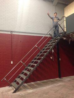 Industriële trap gemaakt voor de jongens van Crossfit Tilburg