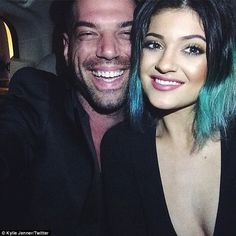 No need for touch ups: Kylie took celebrity make-up artist Rbb Scheppy as her date to the pre-wedding dinner.