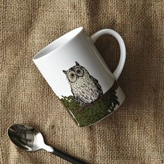 Adorbs - I want to drink coffee out of this wide eyed little fellow's mug!