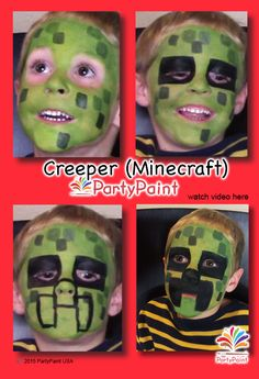 Step-by-Step CREEPER from Minecraft | PartyPaint