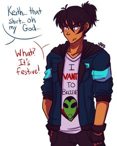 """I HAVE A SHIRT WITH AN ALIEN WITH A CHRISTMAS HAT ON AND IT SAYS """"I WANT TO BELIEVE"""" AND MY MOM DOESN'T LIKE HOW THAT'S MY ONLY CHRISTMAS SHIRT"""