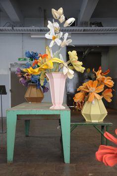 Piet Hein Eek in collaboration with Linda Nieuwstad - Steel Vases specially developed for the exhibition of Linda Nieuwstad