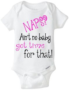 Funny onesie baby girl gift idea: Naps by LittleFroggySurfShop