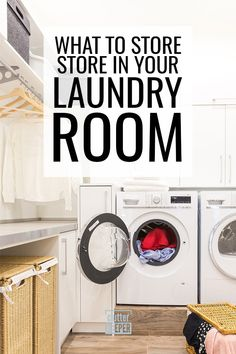 Laundry Room Cabinets Ideas What's better - laundry room cabinets or shelves? Browse these ideas and learn how to store all your laundry supplies in a beautifully organized space. Small Laundry Closet, Laundry Pods, Laundry Room Shelves, Laundry Room Cabinets, Laundry Room Signs, Laundry Room Organization, Laundry Hacks, Organization Hacks, Organizing Ideas