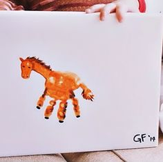 Horse Crafts That Are Super Fun To Make! Cute handprint horse craft for kids by Crafty Morning Cowboy Crafts, Farm Crafts, Daycare Crafts, Camping Crafts, Camping Activities, Horse Crafts Kids, Animal Crafts For Kids, Art For Kids, Horse Games