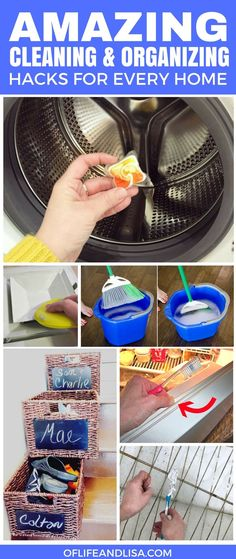 Seriously, these cleaning hacks are pure genius. I did not even think about trying the washing machine one! I will definitely do that later. Make sure to REPIN TO YOUR FOLLOWERS :) #cleaning #cleaningtips #organize #organizing